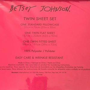 Betsey Johnson Bedding - Betsey Johnson Twin Sheets Stripes and Roses